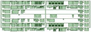 7000系床下機器 7020F(8連)【武蔵模型工房 Nゲージ 鉄道模型】