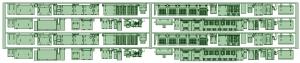 7000系床下機器 7034F~7037F(2連)2編成分【武蔵模型工房 Nゲージ 鉄道模型】
