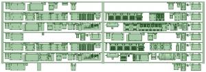 7000系床下機器 6050F(8連)【武蔵模型工房 Nゲージ 鉄道模型】