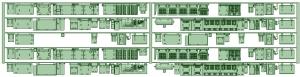 7000系床下機器 7017F(6連)【武蔵模型工房 Nゲージ 鉄道模型】