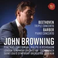 John Browning - CD10 Beethoven Triple Concerto,Barber Piano Concerto
