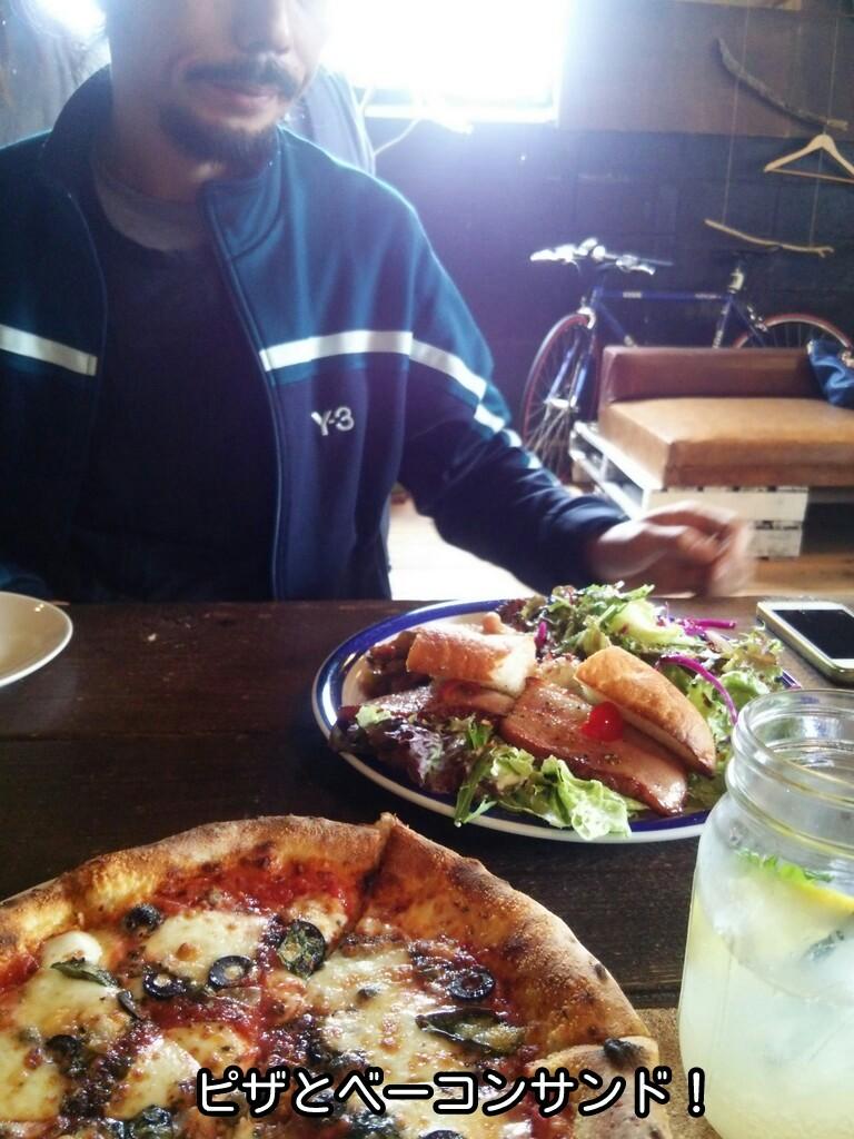 ピザとベーコンサンド!