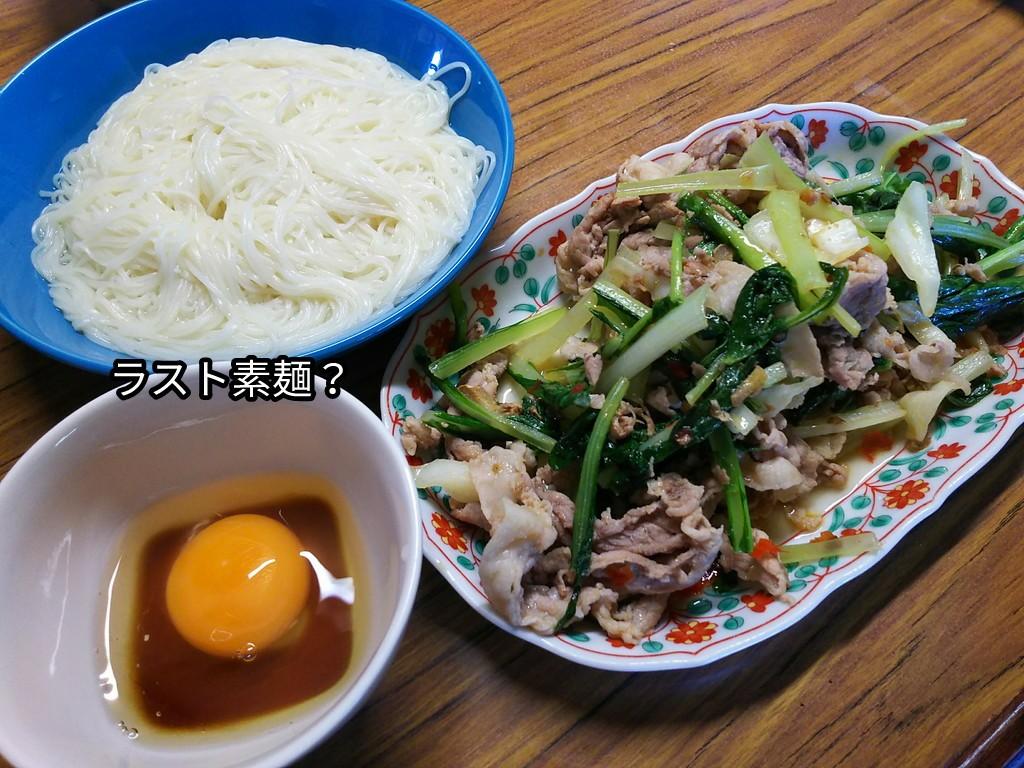 ラスト素麺?