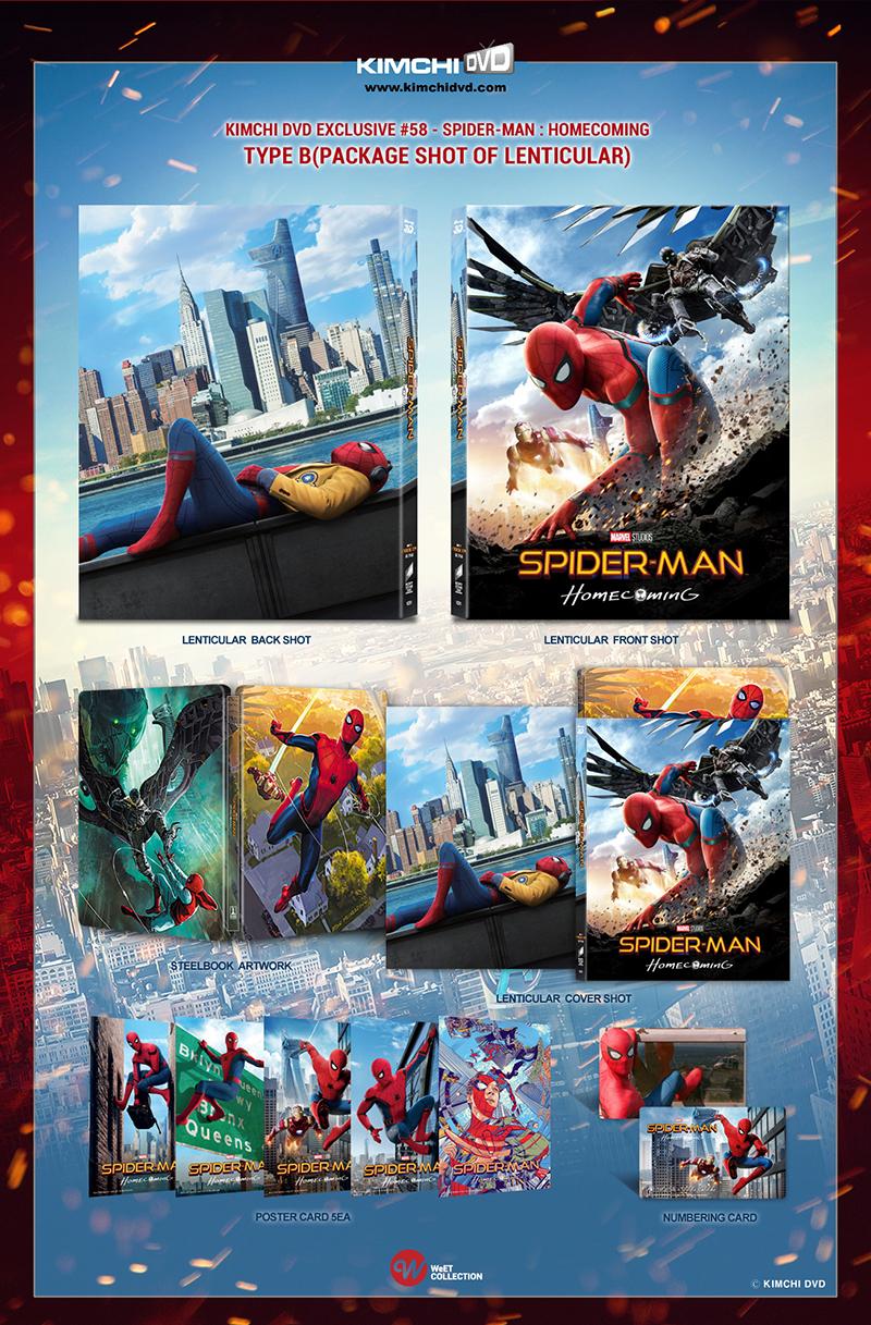 スパイダーマン:ホームカミング KimchiDVD フルスリップ スチールブック steelbook