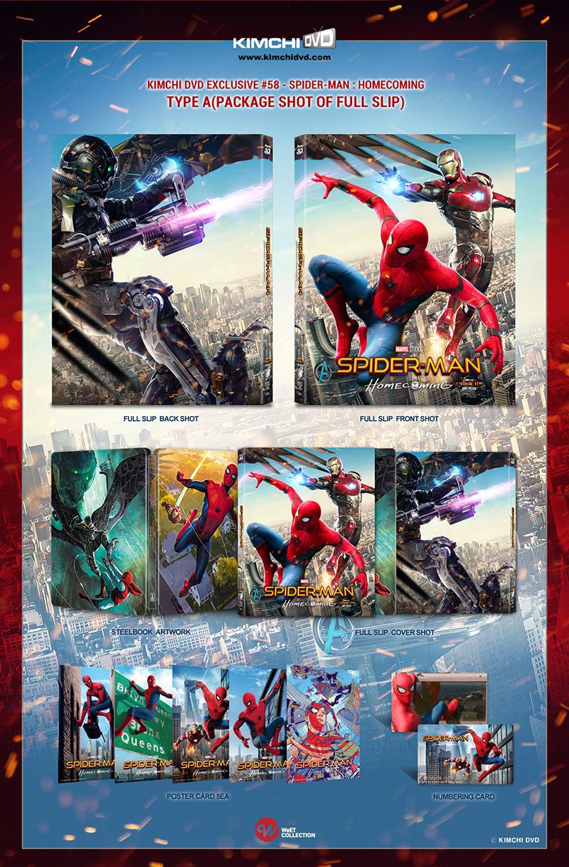 スパイダーマン:ホームカミング KimchiDVD レンチキュラースリーブ スチールブック steelbook