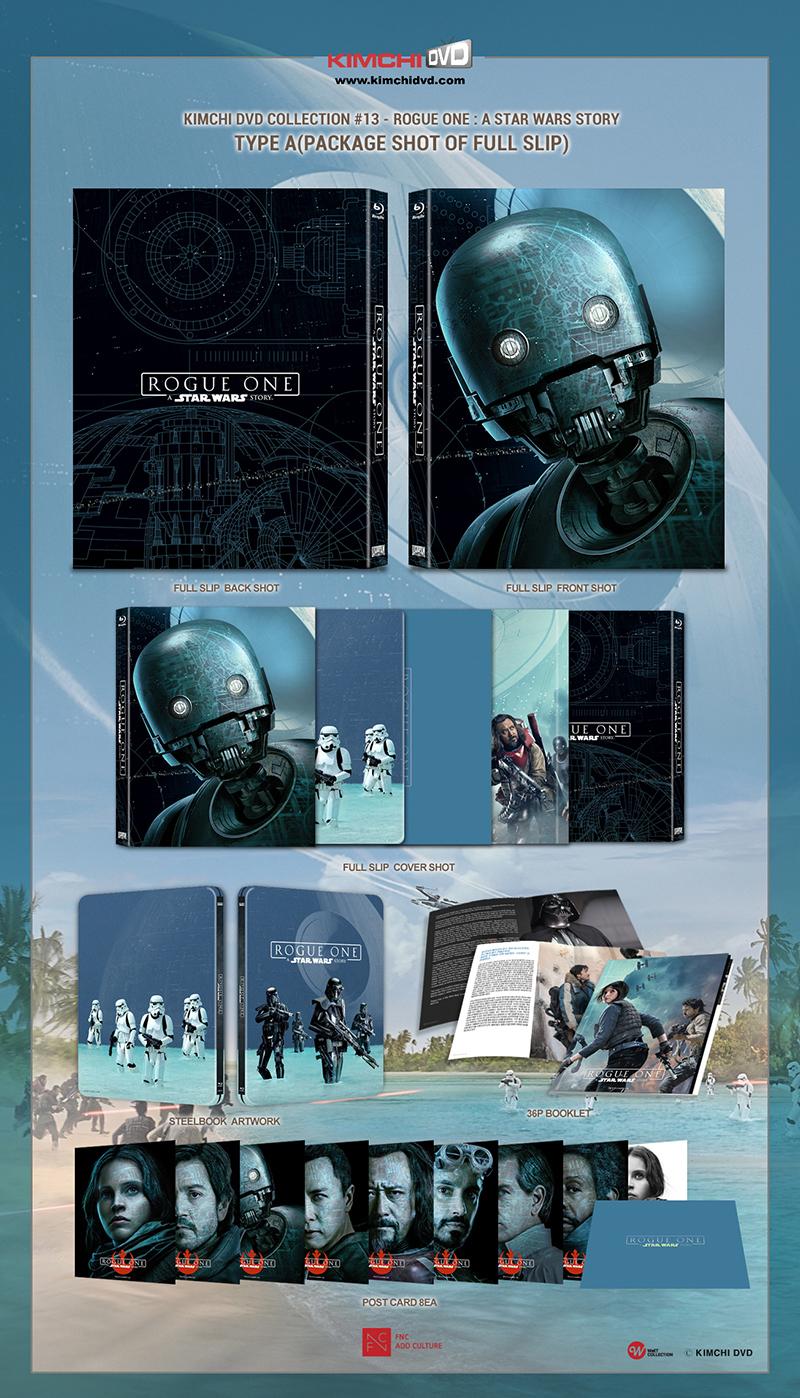 ローグ・ワン/スター・ウォーズ・ストーリー スチールブック Rogue One KimchiDVD steelbook