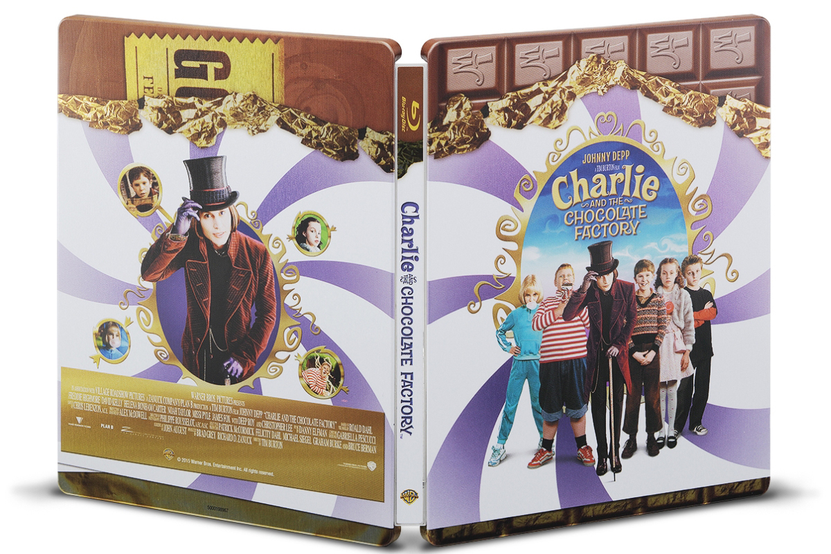 チャーリーとチョコレート工場 スチールブック steelbook