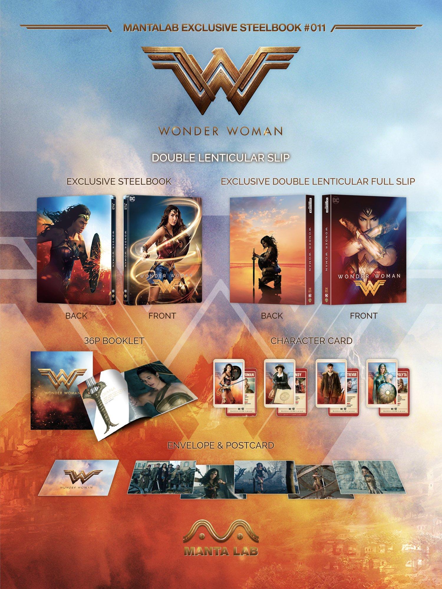 ワンダーウーマン 香港Manta Lab スチールブック WONDER WOMAN steelbook