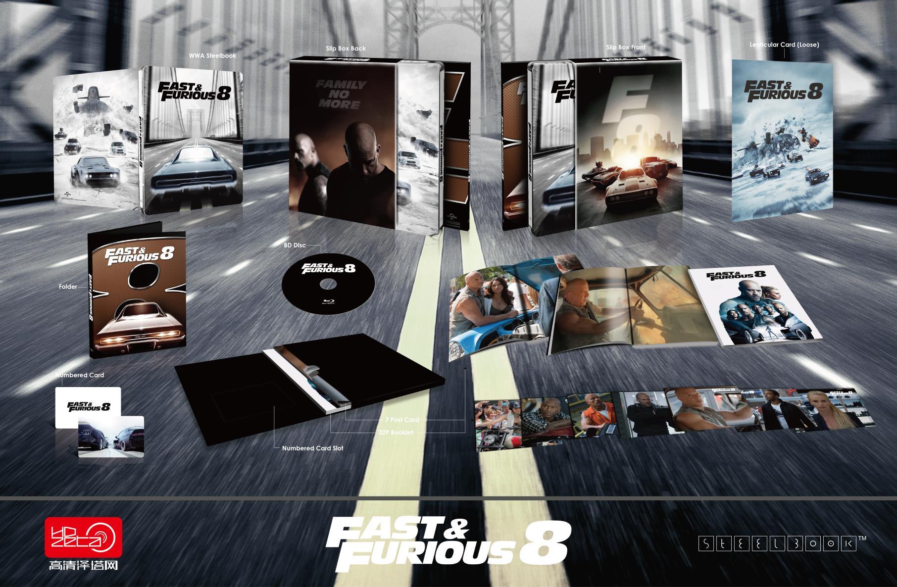 ワイルド・スピード ICE BREAK Fast & Furious 8 HDzeta Silver Label Special Edition スチールブック steelbook