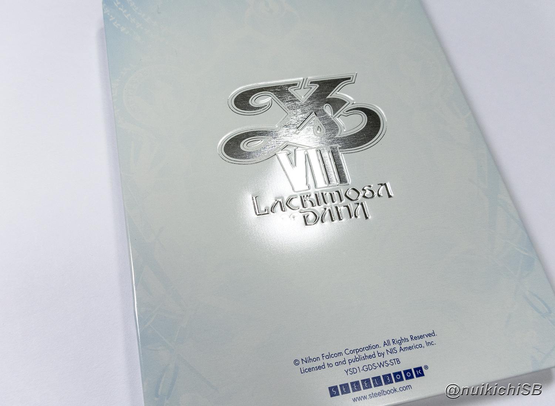 イースVIII YS8 Lacrimosa of DANA steelbook スチールブック