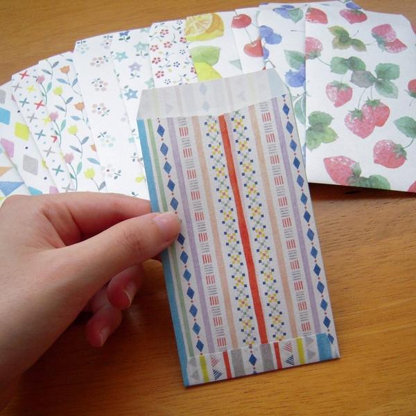 ダイソーの折り紙でポチ袋