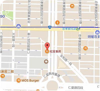 紅豆食府地図