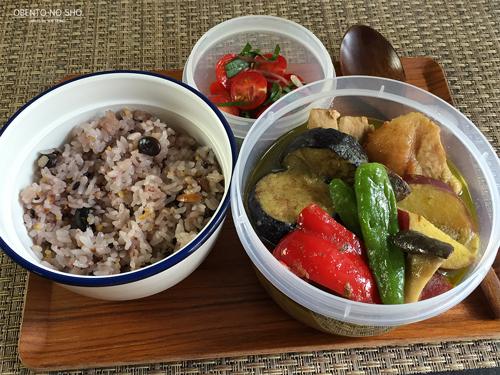 さつま芋と豚肉のグリーンカレー弁当