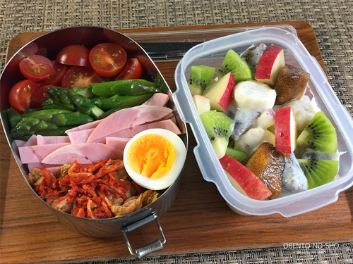 しらたきの韓国風サラダ麺弁当