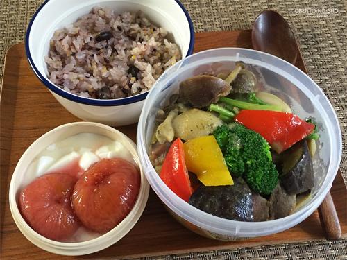 砂肝と小蕪のグリーンカレー煮込み弁当