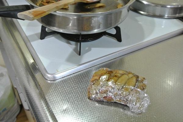 ごぼうベーコン炒め7
