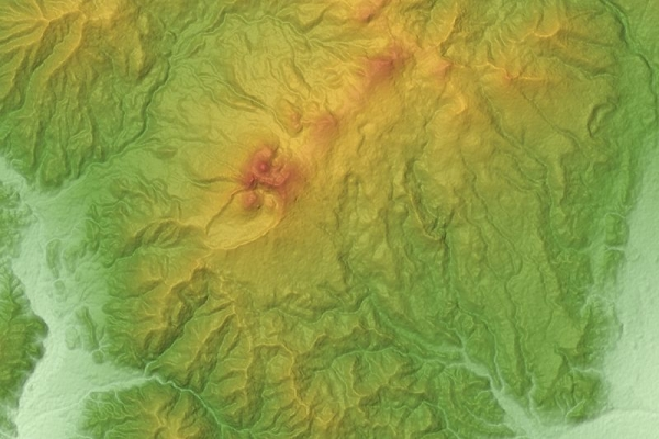 Akita-Komagatake_Volcano_Relief_Map,_SRTM-1