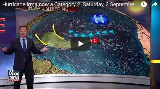 大西洋で強力な大型ハリケーン「イルマ」が発生…またもアメリカに脅威を及ぼす恐れ