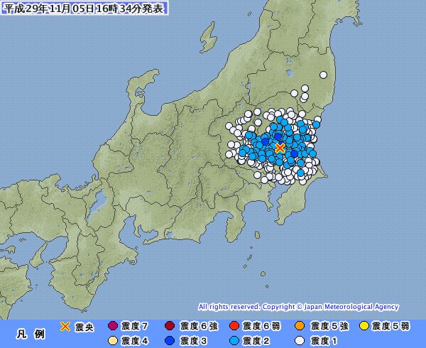 茨城県南部でM4.1最大震度3の地震発生…岩手県沿岸南部でM3.4最大震度2
