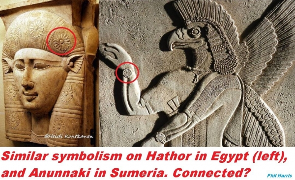 hathor anunnaki wrist watch symbol