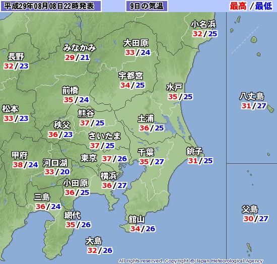 【高温注意】猛烈な暑さに注意!東京都心などで「37℃」予想