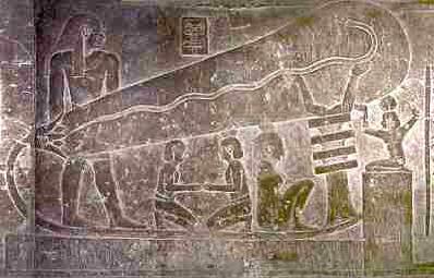 【古代人】ピラミッドを建造する際に内部を明るくするための「電球」っぽい壁画があるけど、これどう説明すんの?