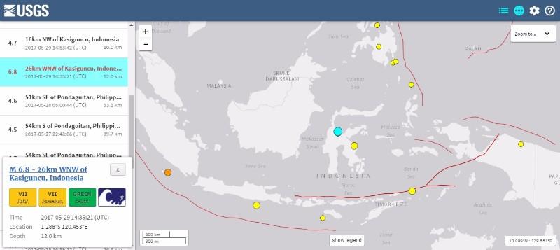 【法則】インドネシアで「M6.8」の地震発生…M5クラスの余震が続く