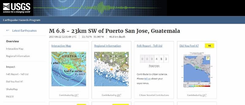【環太平洋火山帯】グアテマラで「M6.8」の地震が発生