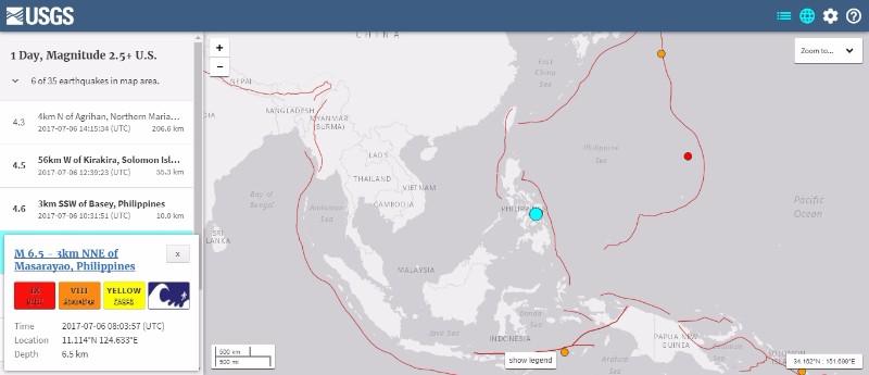 フィリピンのレイテ島で「M6.5」の地震が発生…アメリカ・モンタナ州でも「M5.8」の地震