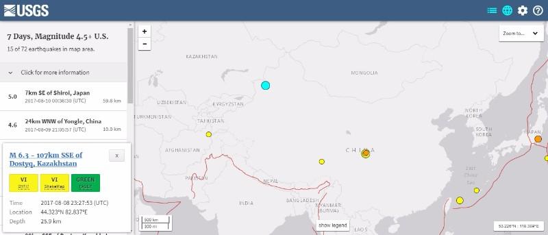 中国・新疆ウイグル自治区でも「M6.3」の地震発生…中国で地震相次ぐ