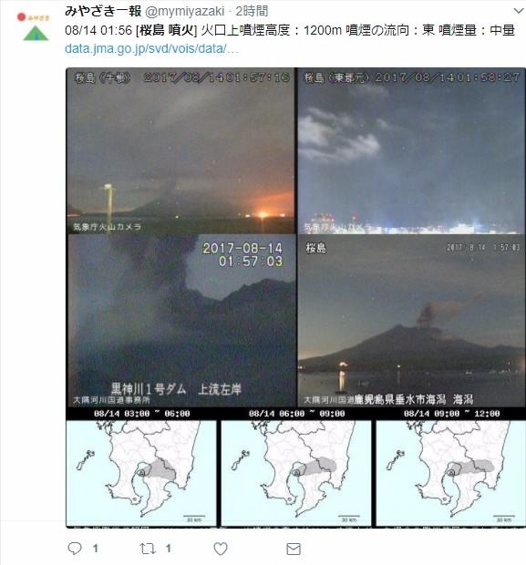【鹿児島】桜島で小規模な噴火が相次ぐ…爆発的な噴火はなし
