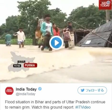 【気象】アフリカのシエラレオネで大洪水…インド北部とネパールでも地滑りや大洪水が発生