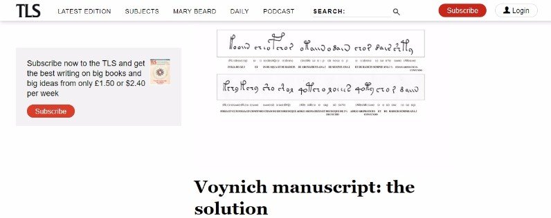 【謎の文書】ついにあの「ヴォイニッチ手稿」の解読に成功か…内容は当時の健康などについての医学書だった?