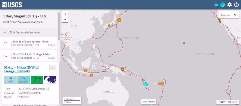 【法則】バヌアツで「M6.4」の地震が発生