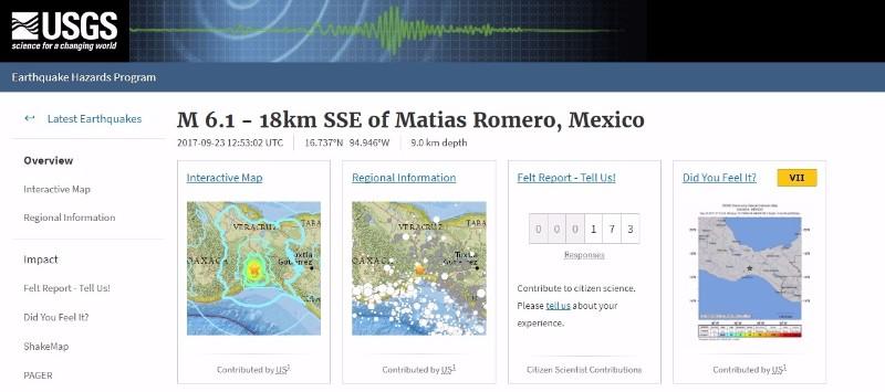 【内陸】メキシコ南部で「M6.1」の地震が発生
