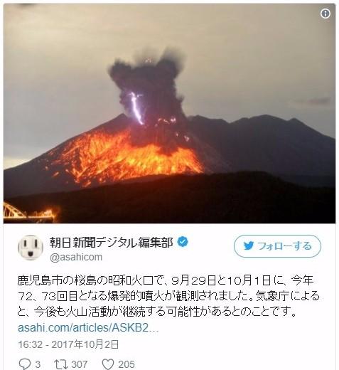 【鹿児島】桜島で爆発的噴火!今後も続く可能性…噴煙2800メートルを上げる