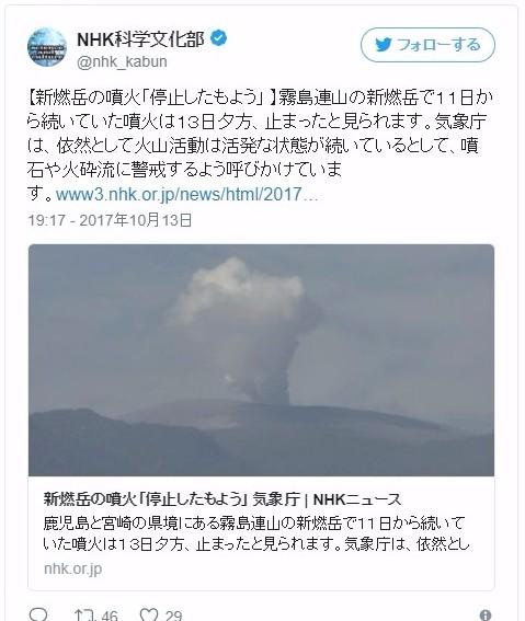 気象庁「新燃岳の噴火が停止した模様」…地殻変動も停滞