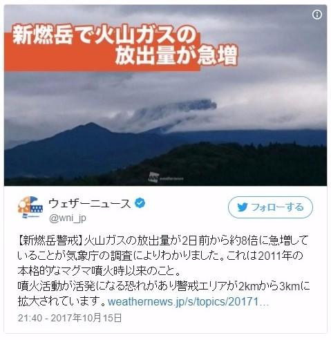 【鹿児島】新燃岳の「火山ガス」が急増…2011年のマグマ噴火の時以来