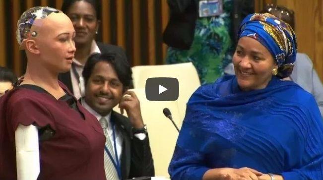 【対談】人類を滅亡させると宣言したAIロボ「ソフィア」が国連会議に出席