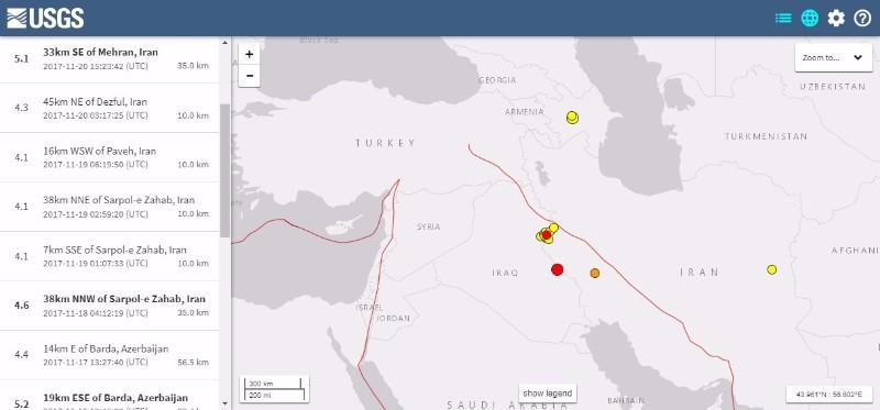 イラン・イラク「M7.3」地震で約90cmも地盤が隆起…今もM4~5クラスの余震が続く