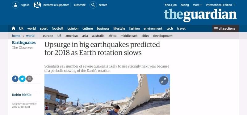 【地震予測】来年「2018年」は世界中で大地震が激増する…地球の自転周期変動により多発、地質学者が警告