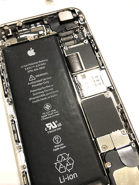 iphone アイフォン 電池 バッテリー交換 格安 長岡 三条 柏崎 南魚沼 小千谷 見附 新潟