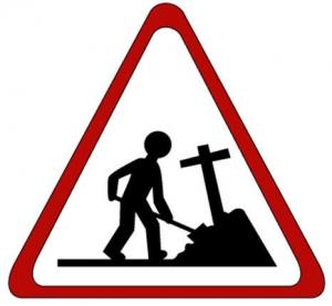 墓穴を掘る