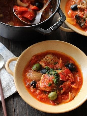 鯖缶のトマト煮縦1