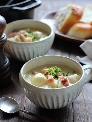 里芋とベーコンのスープ3