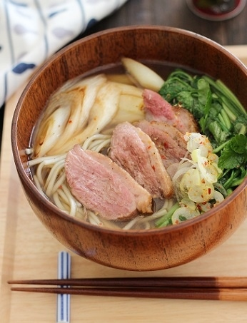 鴨とセリの蕎麦1