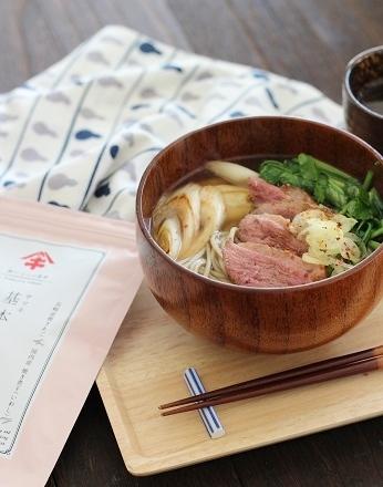 鴨とセリの蕎麦