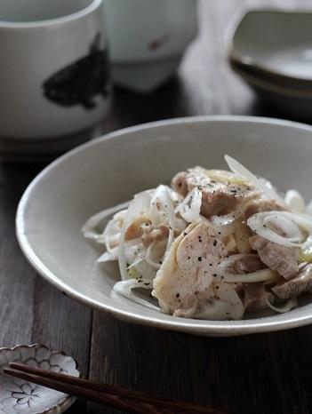 チキンと長ネギの黒胡椒ナムル