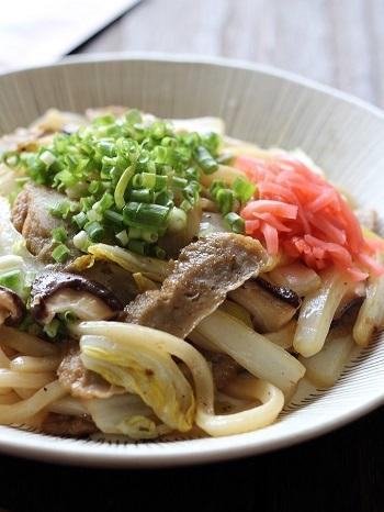 天ぷら焼うどん1
