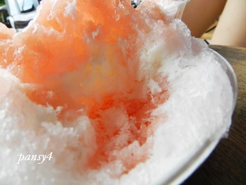 白桃のカキ氷